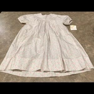 Petit Ami 3T Pink Smocked Dress Roses 100% Cotton